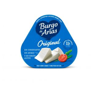 Queso burgo arias mini pack de 3 unidades 216g