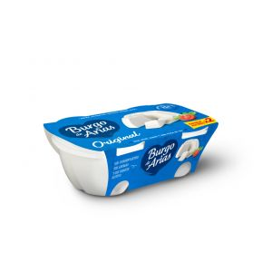 Queso burgo de arias natural pack de 2 unidades de 230g