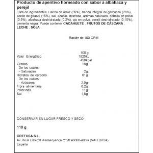 Aperitivos snatts hummus grefusa bolsa 115gr