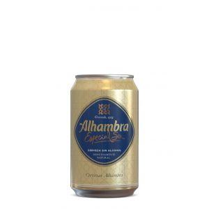 Cerveza sin alcohol alhambra lata 33cl