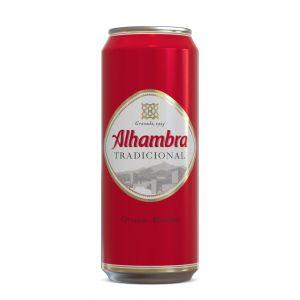 Cerveza premium alhambra lata 50cl