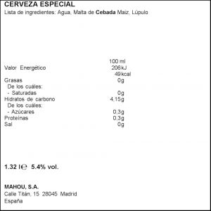 Cerveza especial alhambra botella p4x33cl