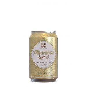 Cerveza especial alhambra lata 33cl