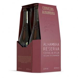 Cerveza reserva roja alhambra pack de 4 unidades de 33cl