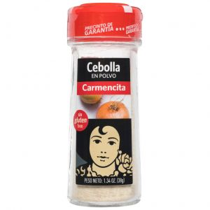 Cebolla en polvo carmencita 38g
