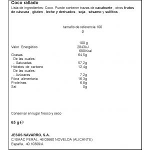 Coco rallado carmencita bolsa 65g