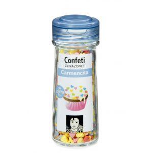 Confeti corazones caremncita tarro de cristal 57g