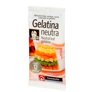 Gelatina neutra carmencita 12 lamina 20g