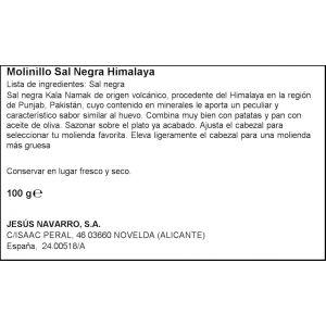 Molinillo sal negra himalaya carmencita 100g
