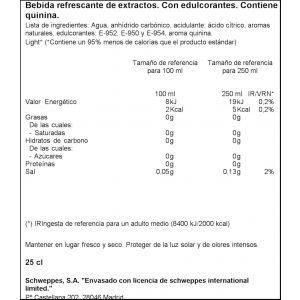 Tonica zero  schweppes lata 25cl