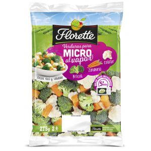 Verduras para microondas coliflor, zanahoria y calabacín florette 350g