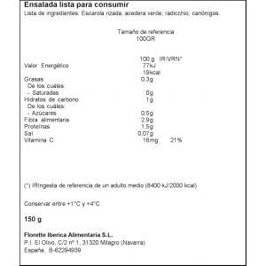 Ensalada gourmet citrus florette 150g