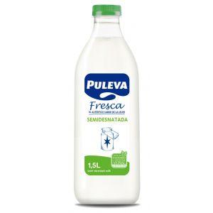 Leche fresca semidesnatada puleva botella 1,5l