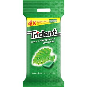 Chicles sin azucar hierbabuena trident  p4x14,5g