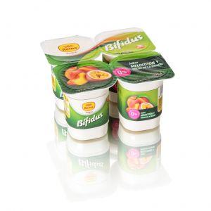Yogur bifidus 0% melocoton y fruta de la pasion reina p4x 125gr
