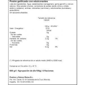Gelatina light sin azucar fresa reina p6x100g