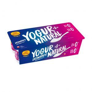 Yogur desnatado natural reina p8x125gr