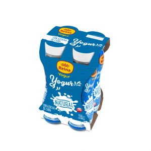Yogur liquido natural con  azucar caña reina p4x 180gr