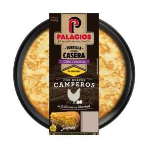 Tortilla fresca c/cebolla palacios 650gr