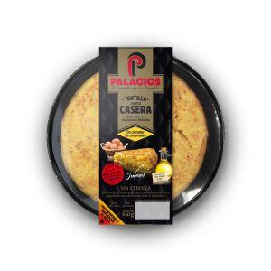 Tortilla fresca sin cebolla  palacios 650gr