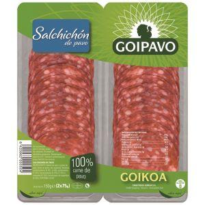 Salchichon de pavo goigoa bipack 2x75g