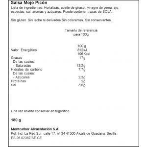 Salsa mojo picon canario montealbor t 180g