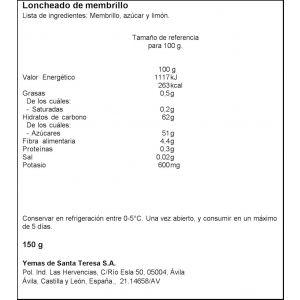 Membrillo santa teresa lonchas 150g