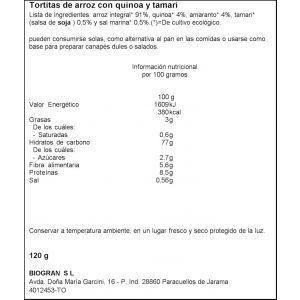 Tortitas de arroz y quinoa bio ecocesta 120g