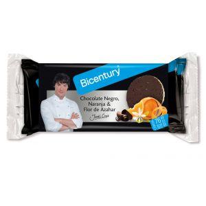 Tortitas de arroz con chocolate negro, naranja yazahar biocentury 132g