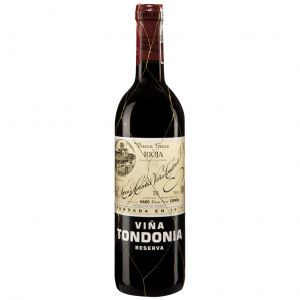 Vino rioja tinto viña tondonia reserva 75cl
