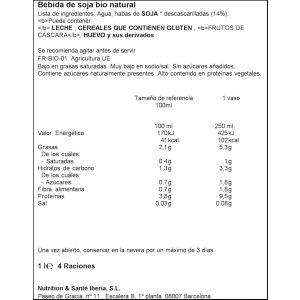 bebida de soja bio natural gerblé 1l