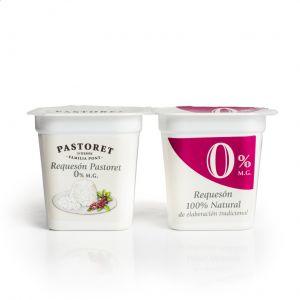 Requeson 0% mg materia grasa pastoret p-2x125g