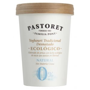 Yogur eco natural 0% pastoret 500gr