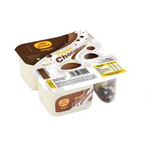 Crema yogur natural con chocobolas reina p-2x125g