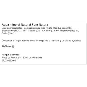 Agua mineral  font natura pet 1l
