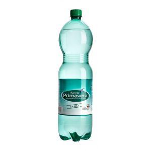 Agua mineral con gas fuente primavera botella 1,5l