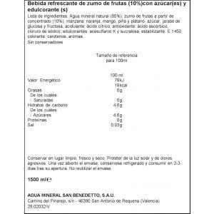 Refresco s/gas12%zumo tropical enjoy pet 1,5l