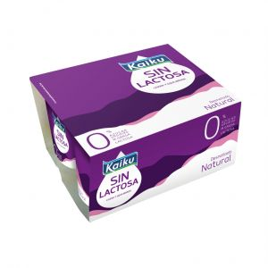 Yogur sin lactosa natural azucarado kaiku p-5x100g