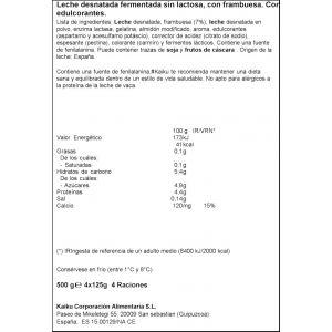 Yogur sin lactosa 0% frambruesa kaiku p-4x125g