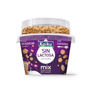 Yogur mix sin lactosa natural-muesli kaiku 132g
