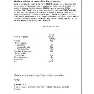 Galleta flakes nocilla cuetara 130g