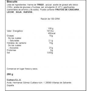 Galleta campurrianas cuetara 300g