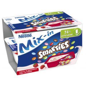 Yogur smarties fresa nestle p-2x128g