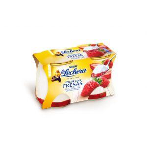 Yogur con fresas la lechera p-2x125g