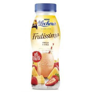Yogur liquido fresa-piña frutissimo la lechera 315gr