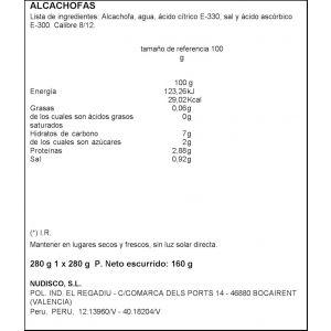 Alcachofa cor 8/12 diamir t 160g ne