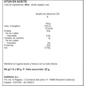 Atún aceite girasol diamir ro 80 p6x52g ne