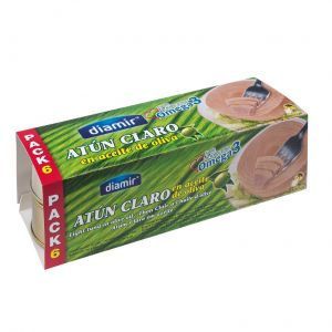 atún en aceite de oliva guest pack de 6 unidades de 52g