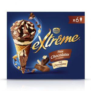 Helado cono 3chocolate extreme pack-6x 120ml