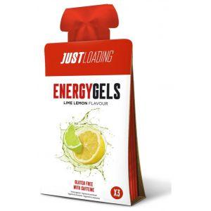 Gel energetico lima limón loading pack de 3 unidades de30g